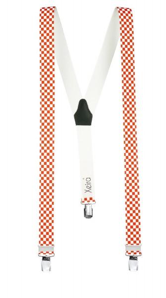 Hochwertige Hosenträger Kariert Design 3 XL Clips