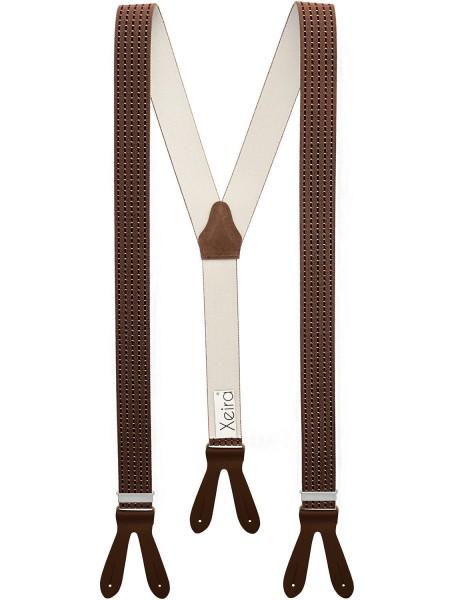 Hosenträger in Vintage Design mit Lederriemen