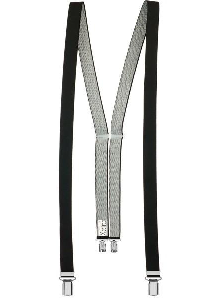 Hosenträger in Uni Farben für Damen mit 4 stabile Clips - 25mm Breit -Made in Germany Schwarz