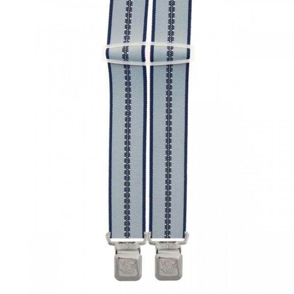 Hosenträger in Trendigen Gestreiften Design -4 XL Adler Clips