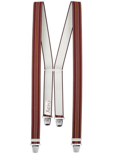 Hosenträger in Rot-Weiß-Gelb Gestreift Design