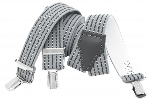 Hochwertige Hosenträger in Trendigen Grau Gestreift Design