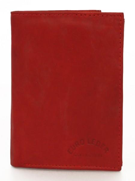 Geldbörse 100% Echt Leder - Hochformat - Schwarz / Braun / Rot / Blau / Grün