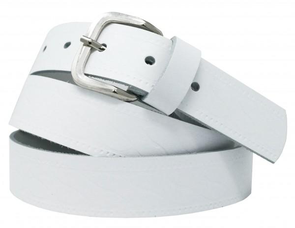 Ledergürtel 4cm Breit - Echt Leder mit Wellenprägung