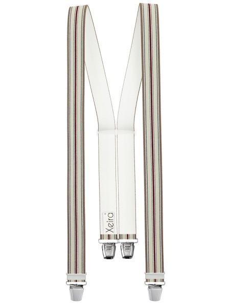 Hosenträger in Braun-Grau-Bordeaux Gestreiften Design