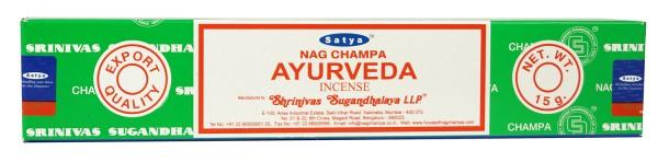 Räucherstäbchen Satya Nag Champa AYURVEDA - 15g