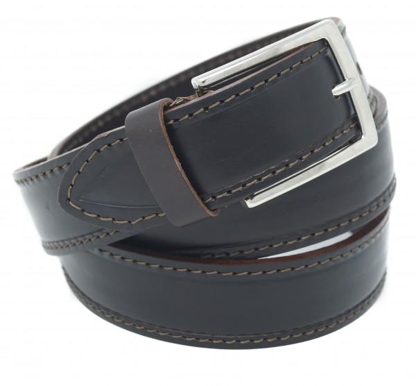 Ledergürtel 3,5 cm Breit - Echt Leder - Herren und Damen Gürtel - Made in Germany