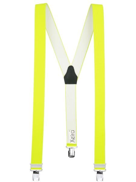 Hosenträger in Uni & Neon Farben mit 3 XL Clips