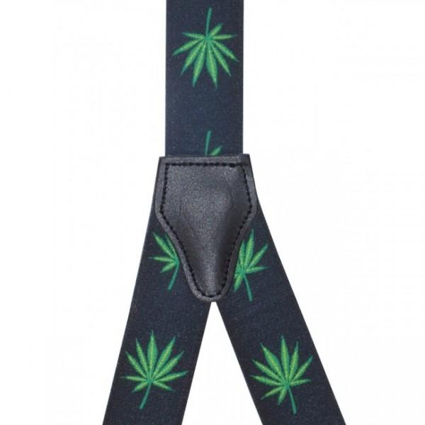Hochwertige Hosenträger Cannabis Design