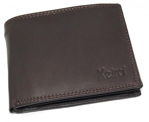 Geldbörse aus 100% Echt Leder Braun / Natur im Querformat