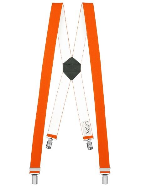 Hosenträger in Uni-Farben im X-Design