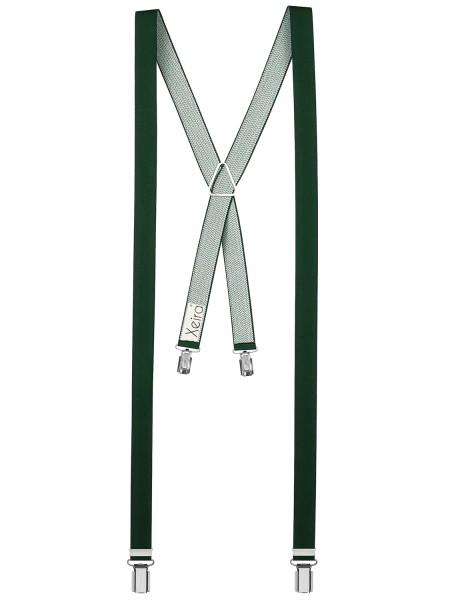 Hosenträger X- 4 Clips Design in Uni Farbe - 25mm Breite -Du