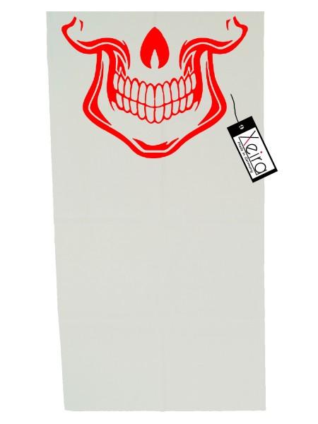 Multifunktionstuch mit Totenkopf Design - Weiß