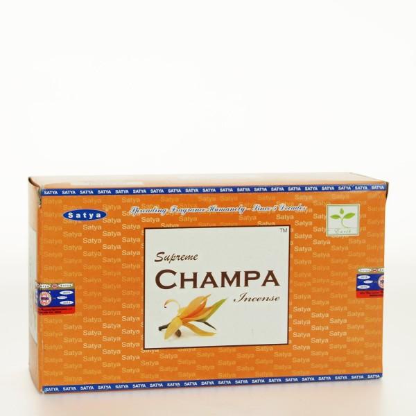 Supreme Champa Räucherstäbchen 15g x 12 = 180g