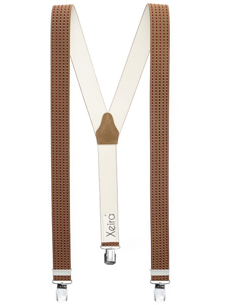 Hosenträger in Trendigen Braun / Bordeaux Design