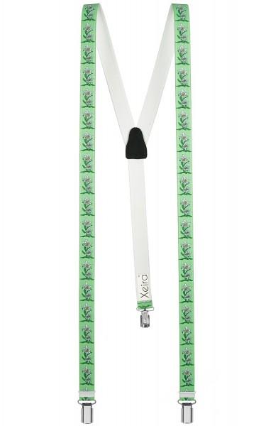 Hosenträger in Trendigen Edelweiß Design - 25mm Breite