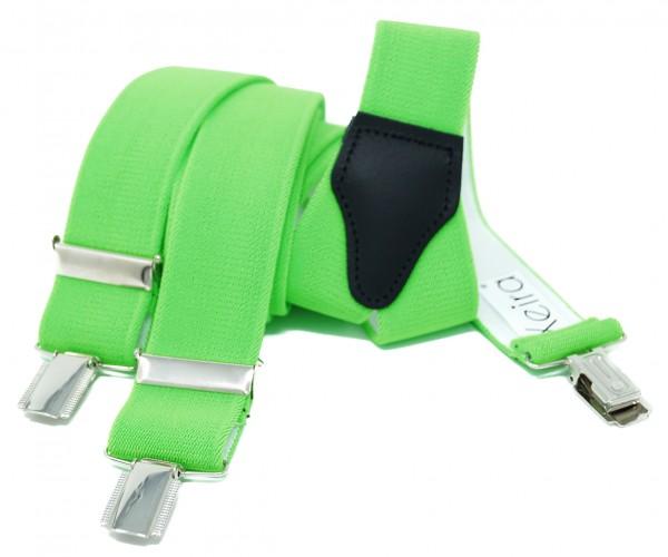 Hochwertige Hosenträger in Trendigen Neon Farben mit 3 Clips