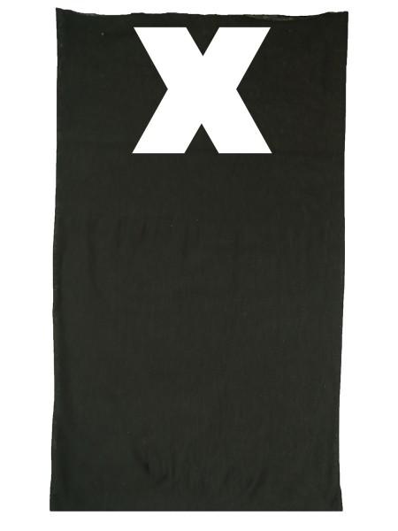 Multifunktionstuch in trendigen X Design - Schwarz