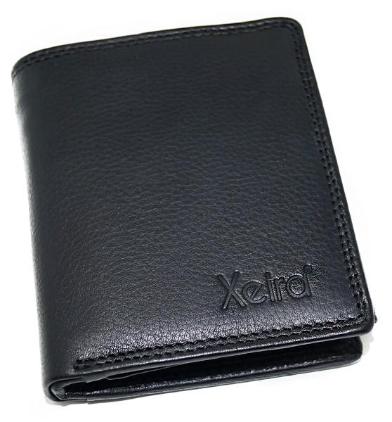 RFID Schutz Geldbörse aus 100% Echt Leder im Hochformat