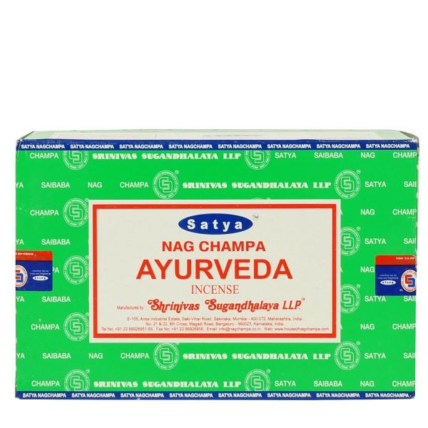 Satya Nag Champa Ayurveda Räucherstäbchen 180g