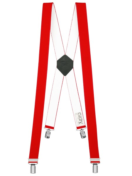 Hosenträger in Uni-Farben im X-Design Rot 110cm