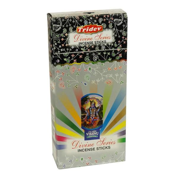Räucherstäbchen Tridev Divine Series 6 x 20g Großpackung 120g