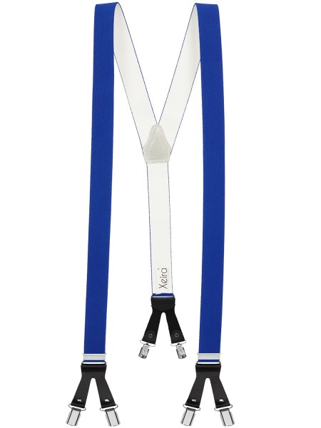 Hosenträger in Uni Farben mit 6 Clips