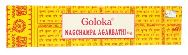 Räucherstäbchen GOLOKA Nag Champa Agarbathi - 16g