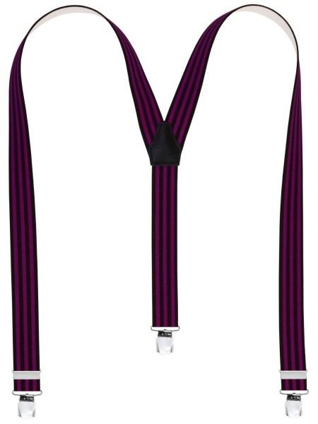 Hochwertige Hosenträger in Trendigen Uni Streifen -XL Clips