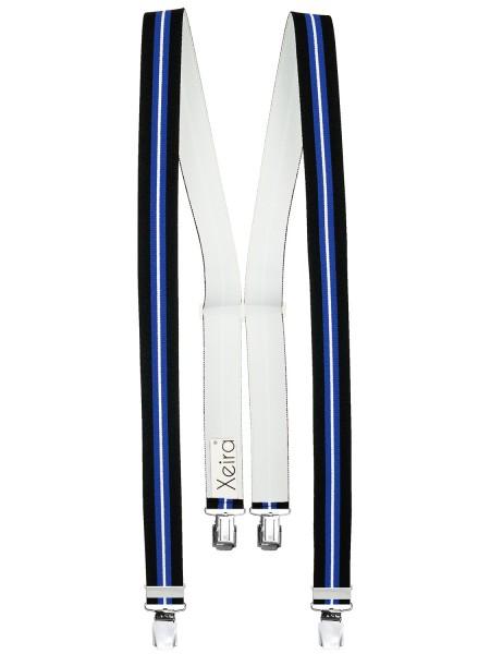 Hosenträger in Gestreift Design mit 4 XL Clips
