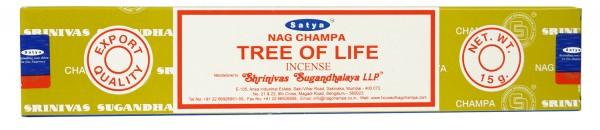 Räucherstäbchen Satya Nag Champa TREE OF LIFE - 15g