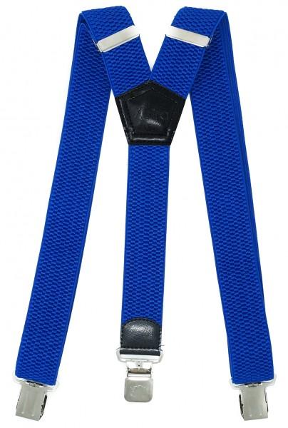 Hosenträger mit 3 Adler Clips 40mm Breit - Königsblau