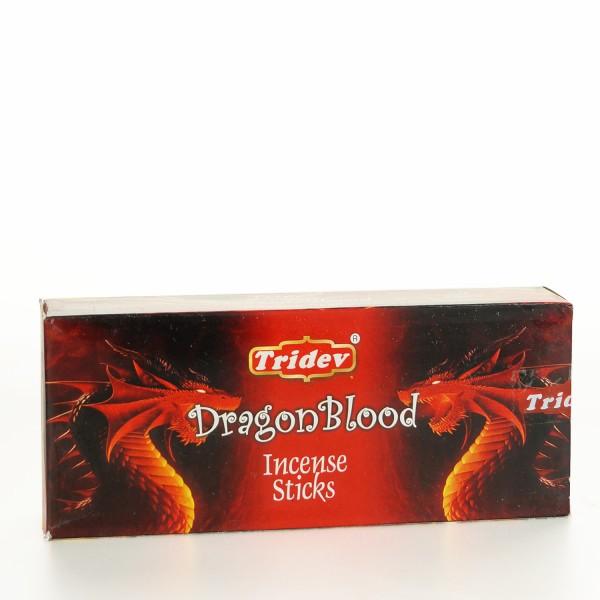 Tridev Dragon Blood Räucherstäbchen 6 x 20g = 120g