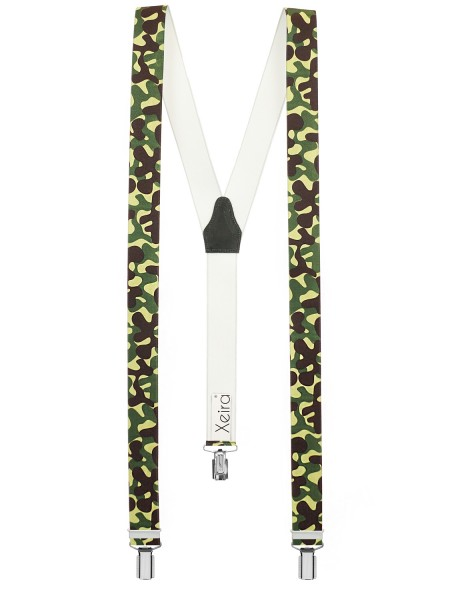 Hochwertige Hosenträger Camouflage Design