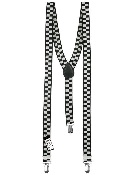 Hosenträger schwarz-weiß kariert