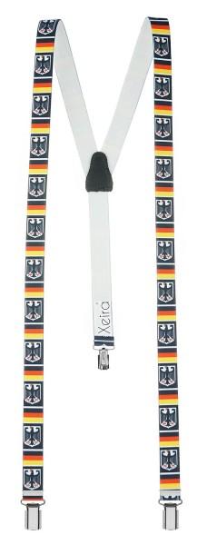 Hochwertige Hosenträger in Trendigen Deutschland Design mit 3 Clips