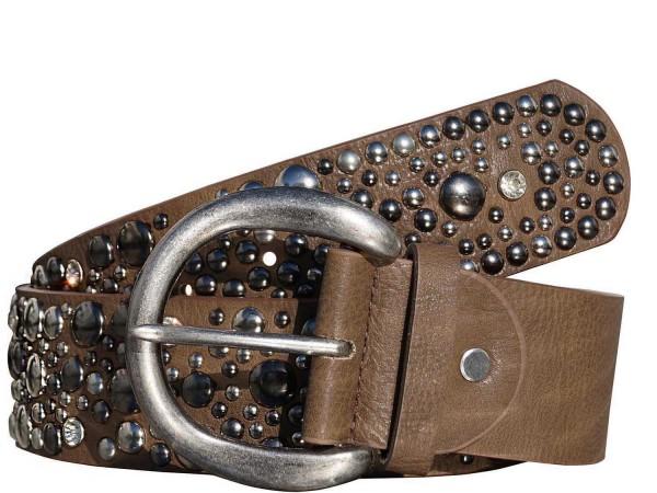 Breiter Damen Gürtel / Taillengürtel mit Nieten und Strass - Vintage Style