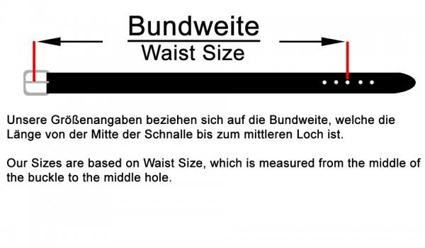 100% Echt Leder Gürtel Natur Braun -4cm Breite