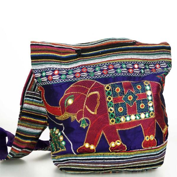 Trendige Ethno Hippie Indische Bestickt Elefant Design Baumwolle Taschen