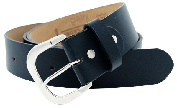 Hochwertiger Ledergürtel in Schwarz und Dunkel Braun- Elegantes Glattes Leder - 4 cm Breit 100% Echt