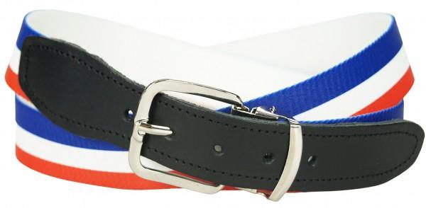 Stretchgürtel / Stoffgürtel - Frankreich Design