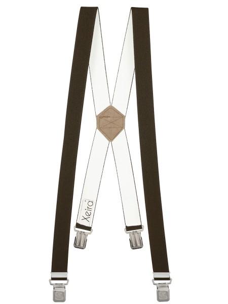 Hosenträger X-Design mit XL Adler Clips Braun 110cm