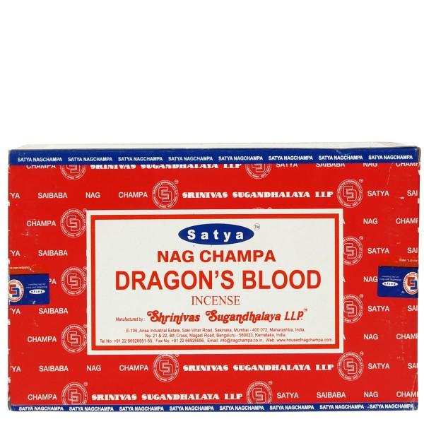 Satya Nag Champa Dragon's Blood Räucherstäbchen 180g