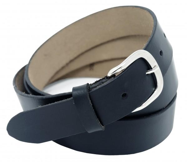 Hochwertiger Ledergürtel in Schwarz und Dunkel Braun- Elegantes Glattes Leder - 3 cm Breit 100% Echt
