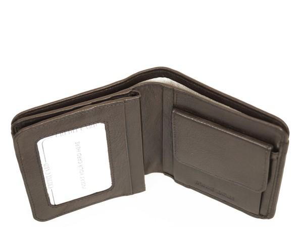Hochwertige Echt Leder Geldbörse/ Geldbeutel - Dunkel Braun