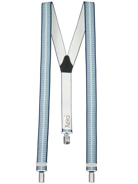 Hochwertige Hosenträger Blau Gestreift Design