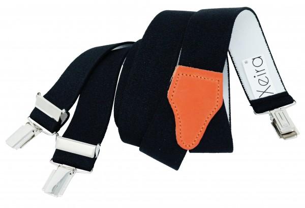 Schwarze Hosenträger mit Multifarbigen Rückenteilen