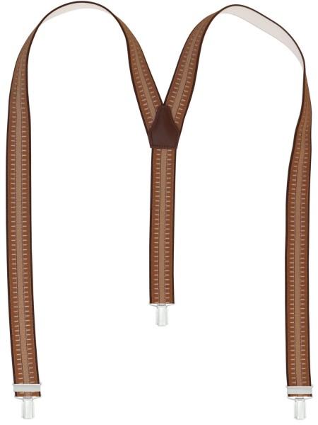 Hochwertige Hosenträger - Braune Streifen Muster …