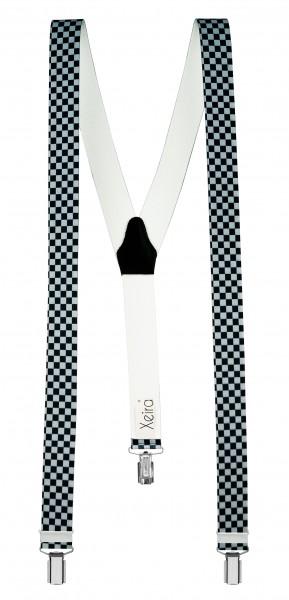 Hosenträger in Kariert Design mit 3 Clips