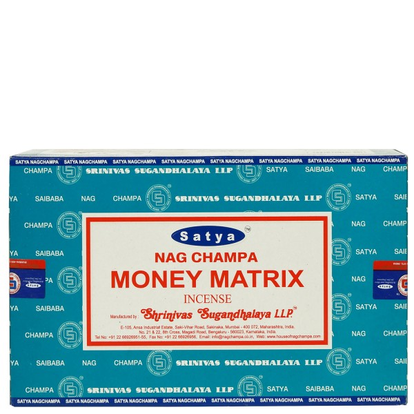 Satya Nag Champa Money Matrix Räucherstäbchen 180g